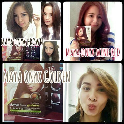 SHAMPO PEWARNA RAMBUT mayaonyx maya onyx brown golden redwine winered black praktis | Shopee Indonesia
