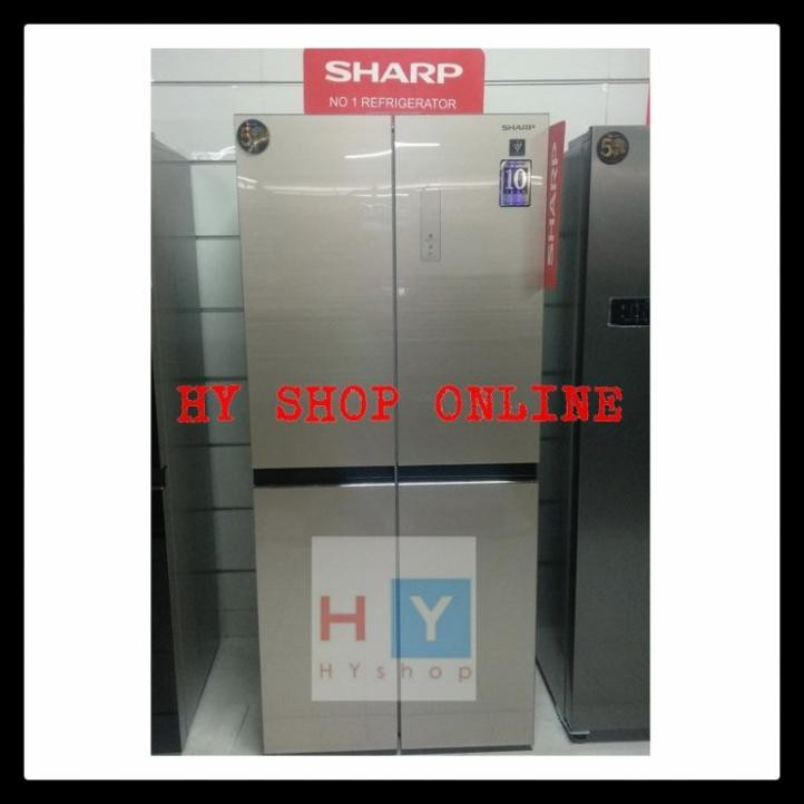 Sharp Sj-If51Pg Cg Kulkas 4 Pintu Inverter Plasmacluster Sj If51