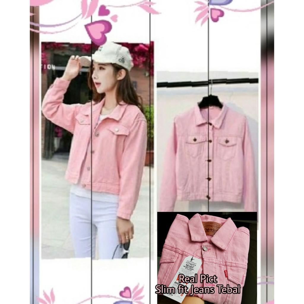 Save 31 From Jaket Jeans Idiskon Wanita Oversize Warna Slim Fit Cewek Limited Stock Hijau Army Kuning Kunyit M