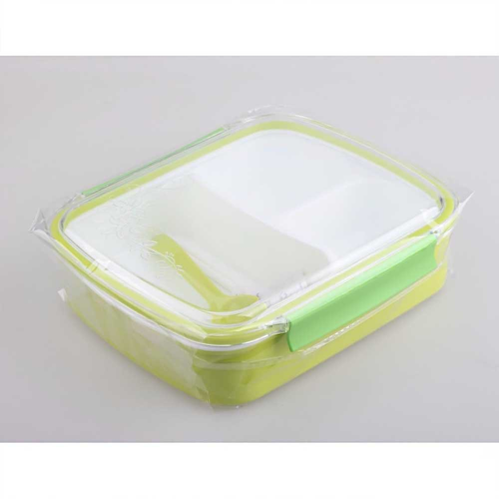 Yooyee Jinbao 580 Lunch Box 3 Sekat Bento Kotak Bekal Makan Sendok Sumpit