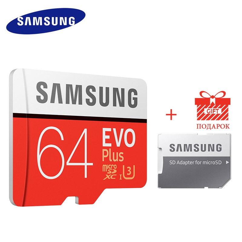 SAMSUNG MICROSDHC EVO PLUS 16GB 80MBS WITH ADAPTER MERAH KABEL MICRO USB. Memory Card SANDISK