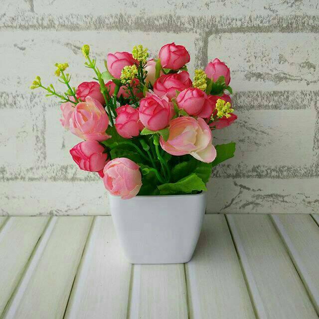 BUNGA LILY BESAR - bunga plastik artificial home decor shabby chic ... ea20cf997c
