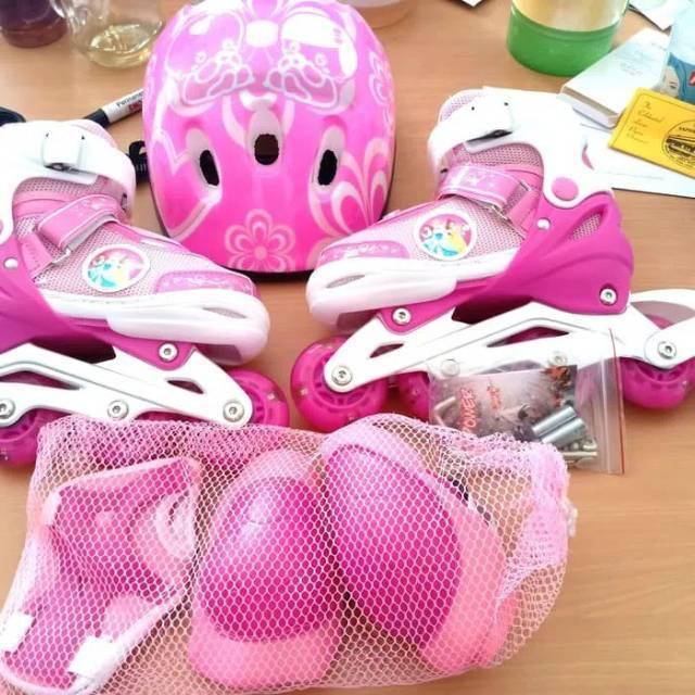 Sepatu Roda Fullset Komplit Dekker Pelindung + Helm   Inline Skate Anak Roda  Bajaj  ecb532c7ef