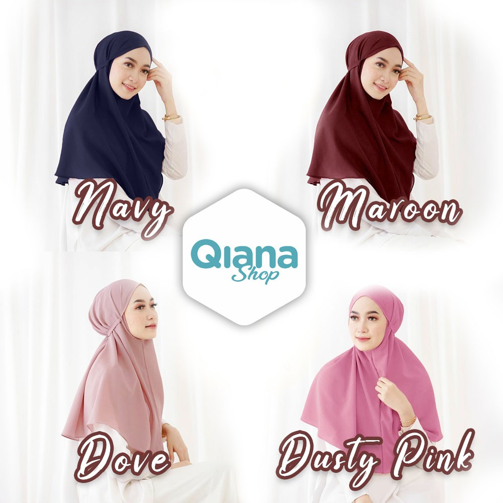 Hijab Bergo Maryam Tali Non Pet Murah Shopee Indonesia