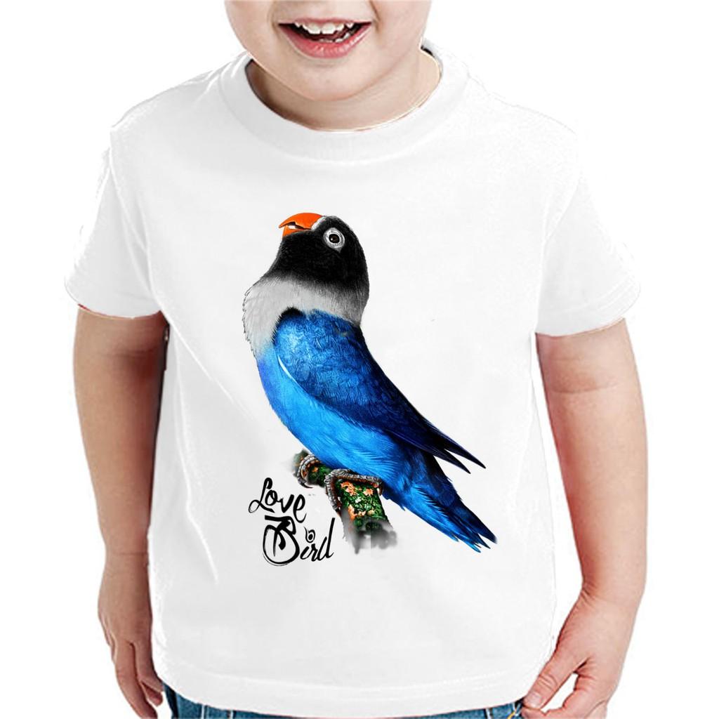 Bawara Kaos Kaos Kicau Kaos Anak Anak A Lb 01 Kaos Burung Lovebird Dakocan Blue Shopee Indonesia