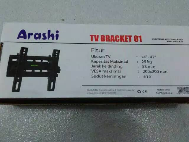 "Bracket TV Arashi LED/LCD/PLASMA 14""-42"""