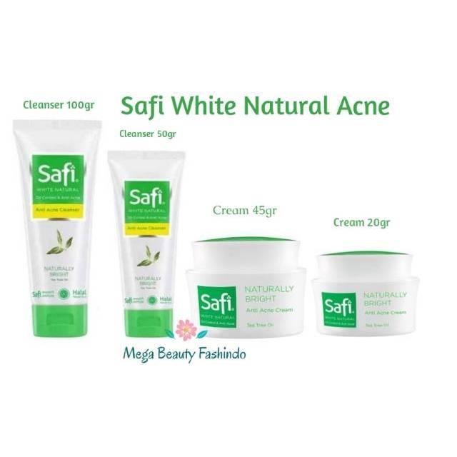 Safi White Natural Anti Acne Cream Tea Tree Oil 20gr 45gr Cleanser 50gr 100gr Shopee Indonesia