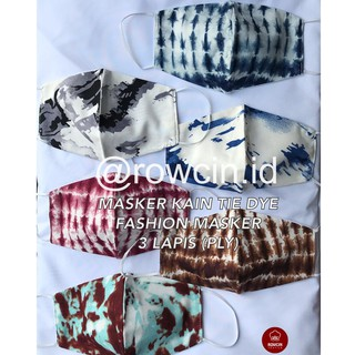 MASKER KAIN TIE DYE 3 LAPIS (PLY) EARLOOP DAN HEADLOOP NONMEDIS