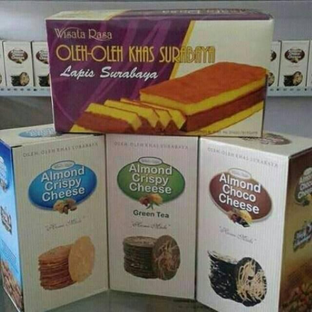 Paket Hemat 3 Almond Crispy Cheese Wisata Rasa Kue Lapis Spikoe Surabaya