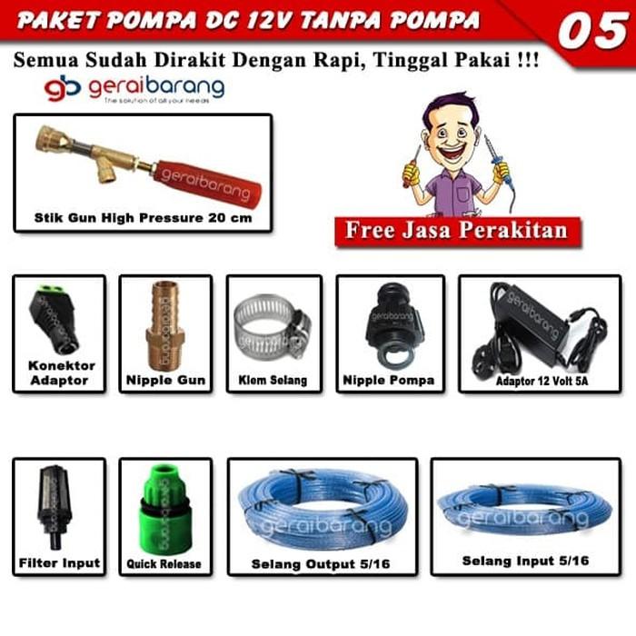 Paket Lengkap TANPA MESIN Untuk Pompa Air High Pressure DC