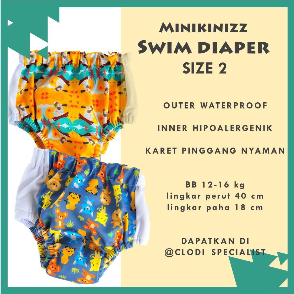 Clodi Swim Diaper Minikinizz Cloth Popok Renang Celana Izzy Eco Kain Grosir  Motif 6 Bayi Shopee Indonesia