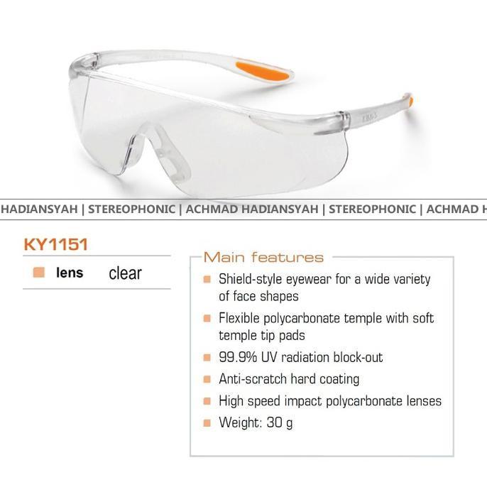 New Kacamata Safety / Kerja / Motor King'S Ky 1151 Original | Shopee Indonesia