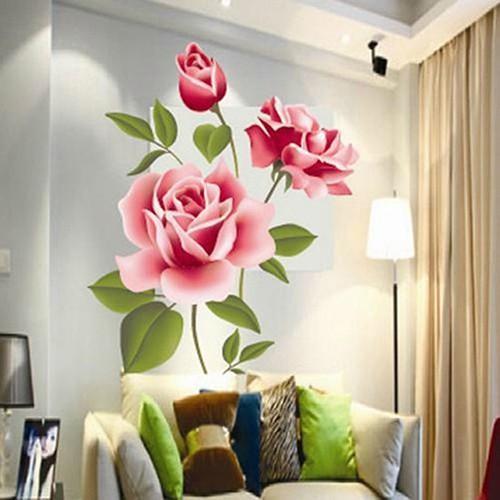 Stiker Dinding Diy Yang Mudah Dilepas Gambar Bunga Mawar Untuk Latar Belakang Tv Dekorasi Rumah Shopee Indonesia