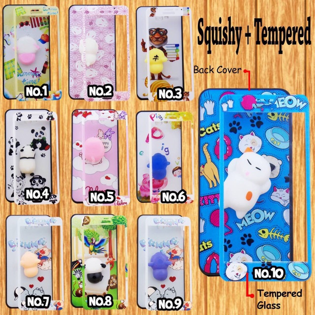 OPPO A57 F3 SOFT CASE SQUISHY TEMPERED GLASS