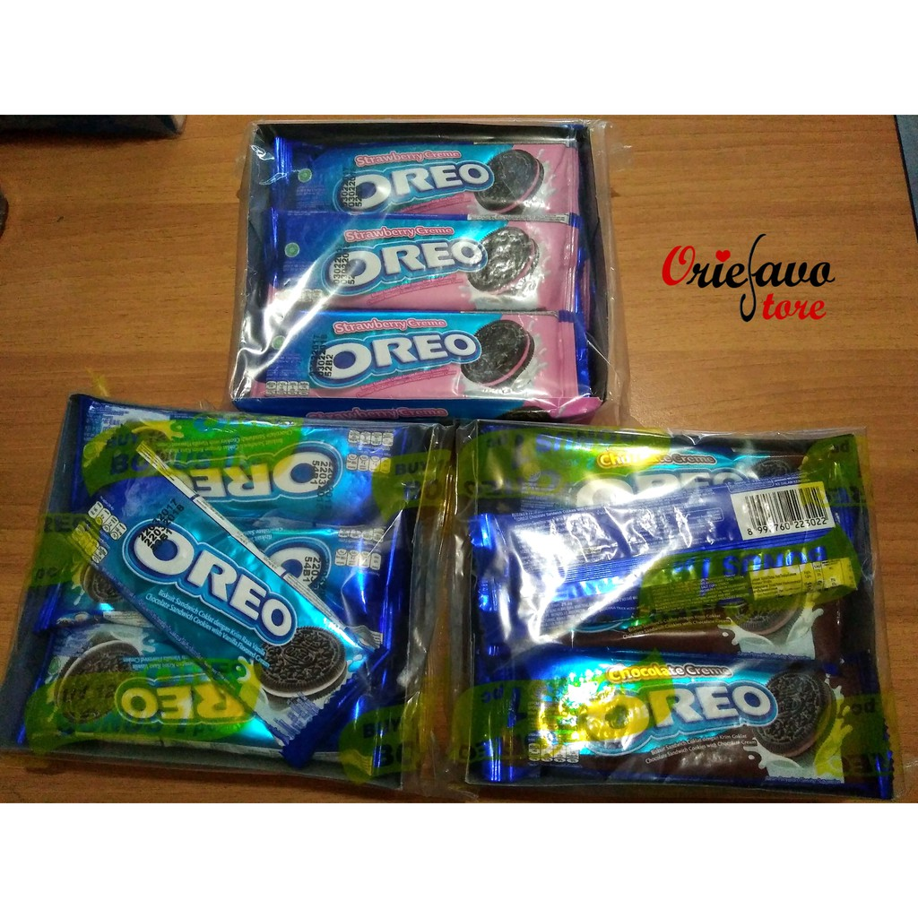 Twin Pack Oreo Mini Biskuit Krim Strawberry 67 Gr Shopee Indonesia Thin Vanila 2 Pcs Tiramisu 1 Free Pouch