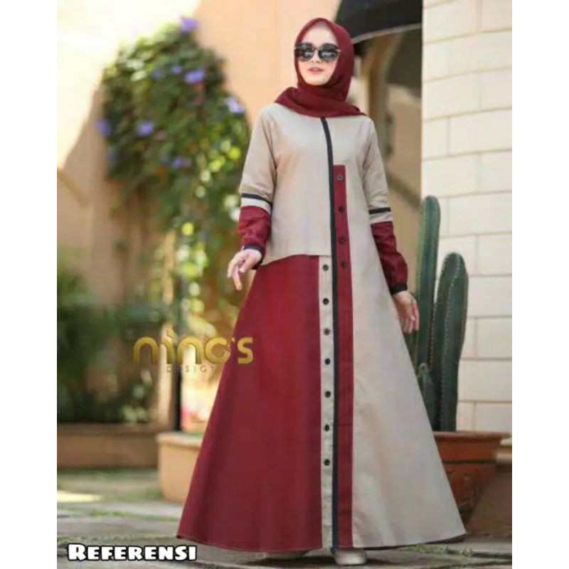 Harga Gamis Ninos Terbaik Dress Muslim Fashion Muslim Maret 2021 Shopee Indonesia