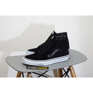 100% PREMIUM Sepatu Vans Sk8 Hi Full Black Dope White HIgh DT Premium Hitam  Sk 8 7fddee7c0f