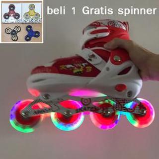 Jual Sepatu Roda Anak Power Inline Skate POWER SUPERB Model BAJAJ semua roda  nyala terakhir b92c0132c8