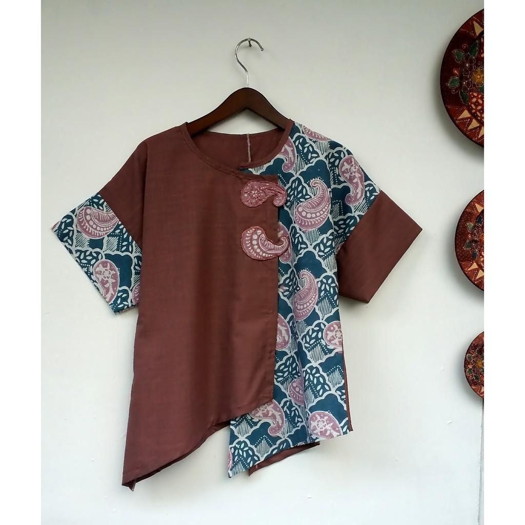 Baju Batik Wanita Terbaru 11 kombinasi bordiran - SOLDOUT