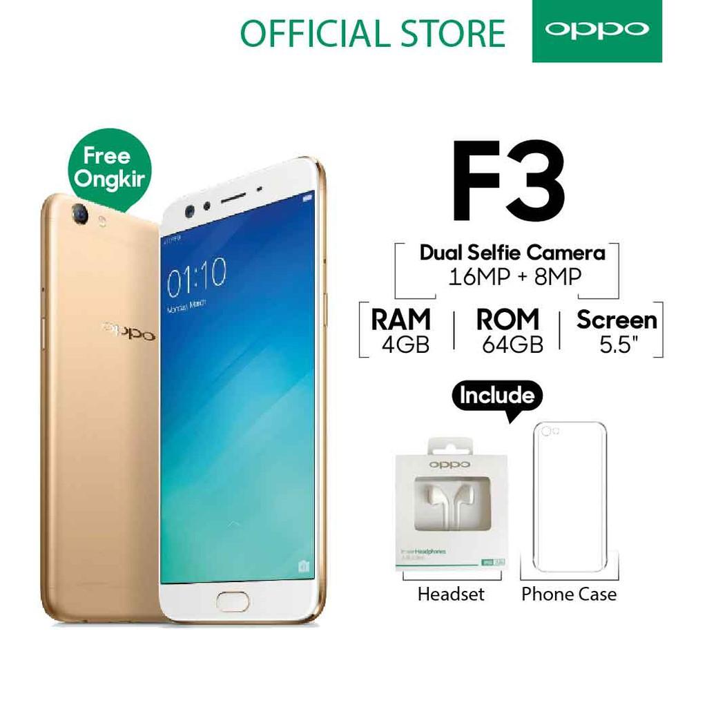 Oppo F3 Smartphone 4gb 64gb Gold Garansi Resmi Cicilan Tanpa Plus Indonesia 1 Tahun Kartu Kredit Free Ongkir Shopee