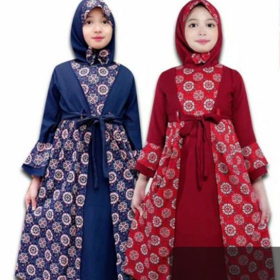 Harga Gamis Batik Anak Terbaik Pakaian Muslim Anak Fashion Muslim Maret 2021 Shopee Indonesia