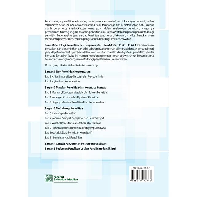 Metodologi Penelitian Ilmu Keperawatan Pendekatan Edisi 4 Shopee