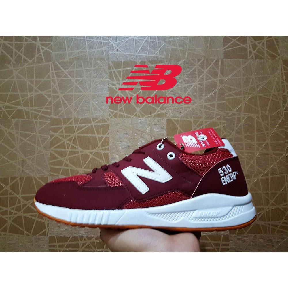 sepatu kasual new balance pria 530 premium maroon ENCAP   Sepatu santai pria    sepatu jalan jalan  6a41e880b2