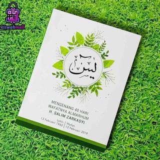 Buku Yasin Murah Soft Cover Putih Minimalis Lis Warna Hijau 128 Halaman Shopee Indonesia