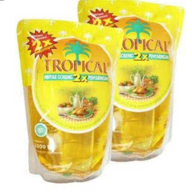 Minyak goreng tropical 2L / 2 Liter Minyak goreng tropical