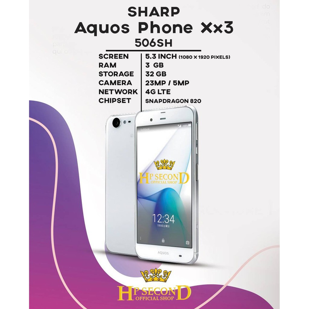 Sharp Aquos Phone Xx3 506SH 3GB Ram 4G LTE 5 INCH SECOND ORIGINAL Spek