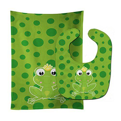 11 x 18 Carolines Treasures BB8990STBU Frog Prince #3 Baby Bib /& Burp Cloth multicolor