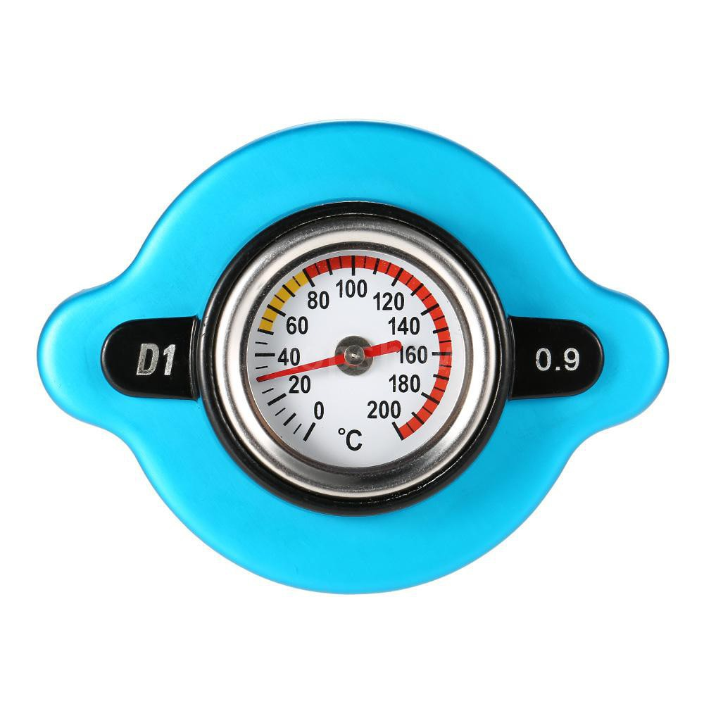 0.9 Bar Thermostatic Radiator Cap Cover with Water Temp Temperature Gauge for Truck Forklift Trailer