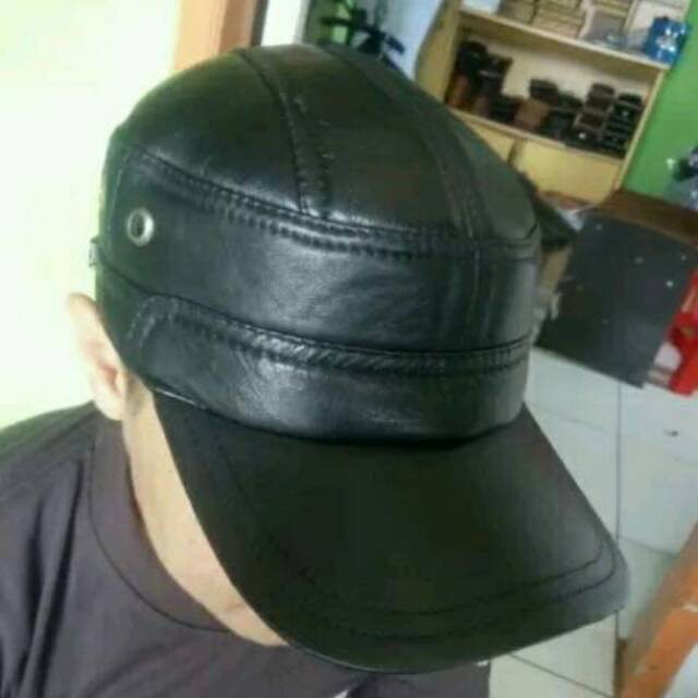 Topi Kulit Asli Garut model komando marlboro snapback baseball anak muda  distro Bandung Keren Murah  1bb1226afa