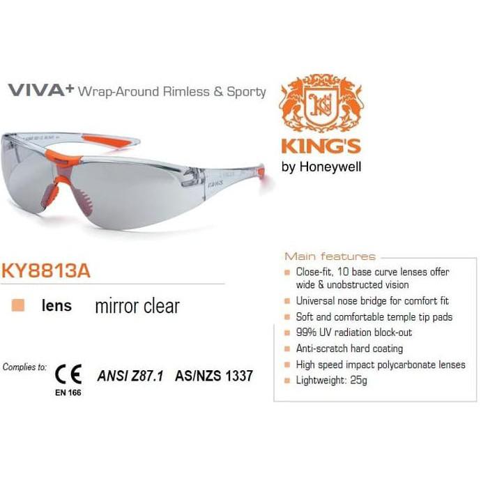 Kings Ky 714 Kacamata Safety Smoke Silver Mirror Nylon Bag Kings ... - King. Source · kacamata clear - Temukan Harga dan Penawaran Kacamata Online Terbaik ...