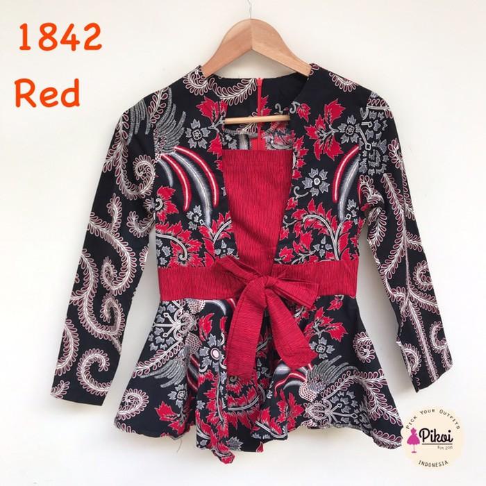 Batik Modern Blouse Batik Batik Wanita Baju Batik Lengan Panjang Batik Kerja Modern Baju