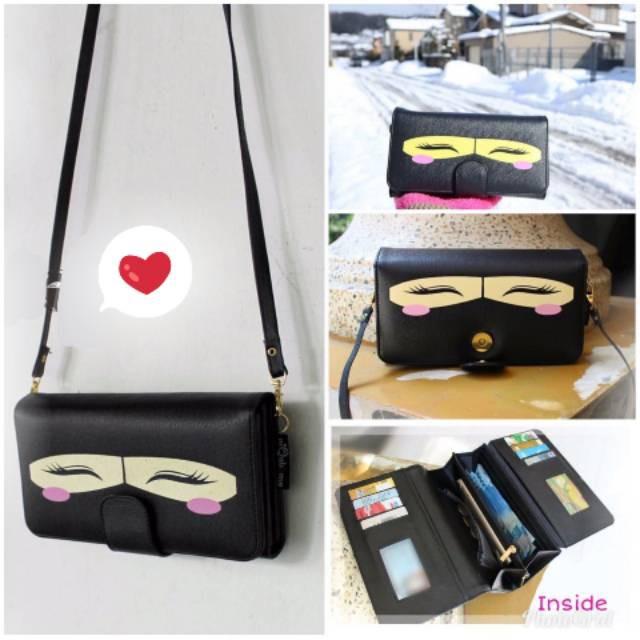 Fashion Wanita: Tas Handbag Purse Clutch Model Bifold Desain Daun Panjang | Shopee Indonesia