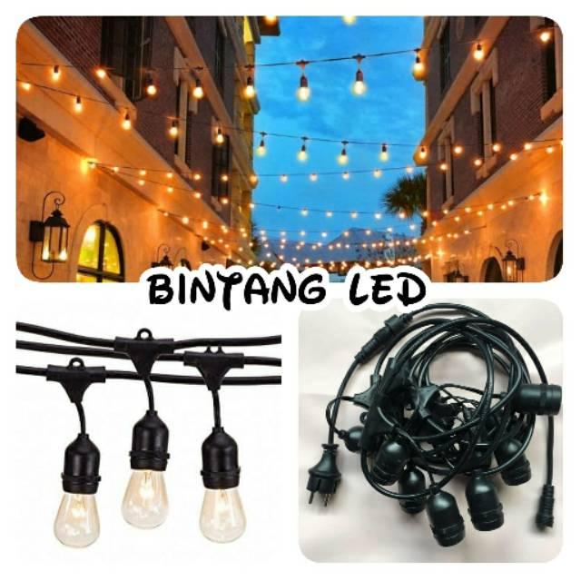 Kabel Fitting Gantung Lampu Outdoor Dekorasi Taman Per Meter Shopee Indonesia