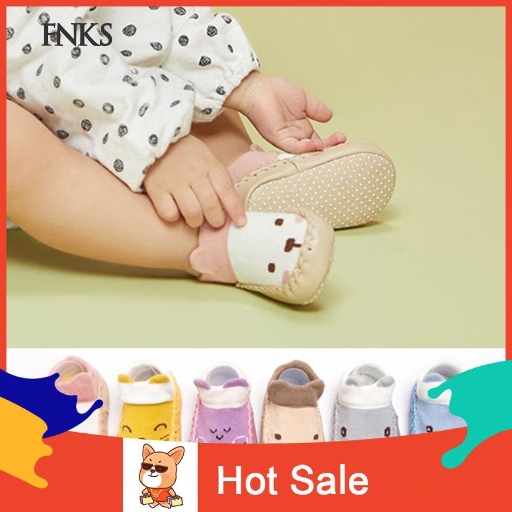SP Kaos Kaki Katun Bayi Laki Laki Perempuan Anti Slip Gambar Kartun Hewan Lucu Untuk Indoor