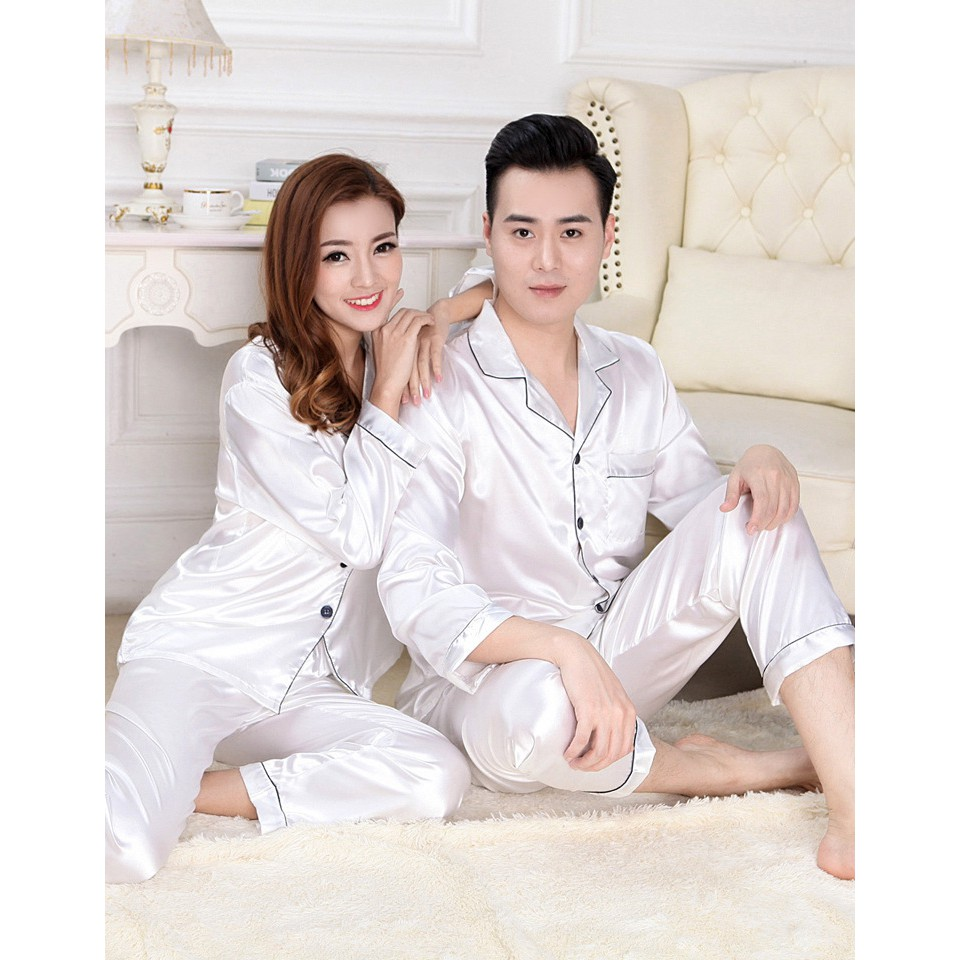 Ready - Piyama couple satin impor piyama pengantin baru hantaran nikahan  baju tidur couple PYS-11