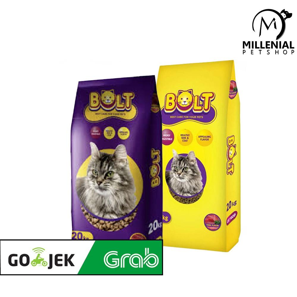 Makanan Kucing Bolt 20 Kg Cat Food 20kg Bolt Karungan Bentuk Ikan Bentuk Donat Shopee Indonesia