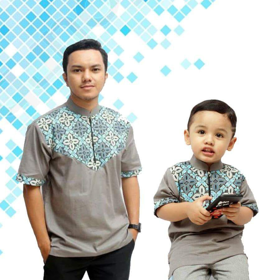 Baju Koko Batik Couple Ayah Dan Anak Bw Shopee Indonesia