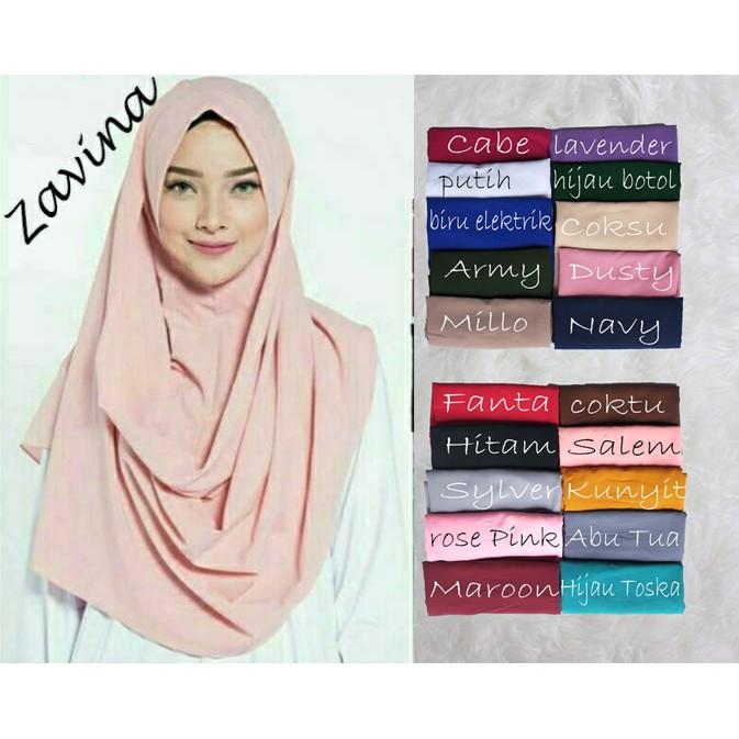 Hijab Zafina Sala Jilbab Pastan Pashmina Instan Khimar Grosir Kerudung Terbaru Murah Grosir Shopee Indonesia