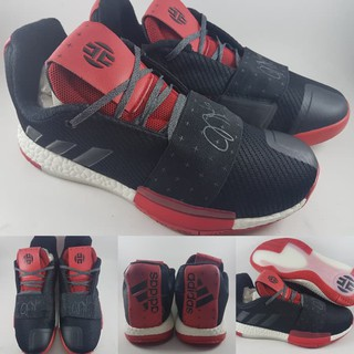 Gaolcollection Kualitas Premium Sepatu Basket Adidas James Harden XIII  Volume 3 Low Black Red Hitam 547551118e