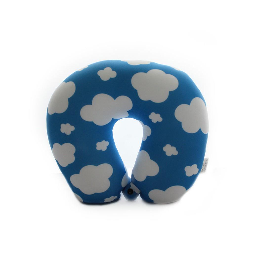 RUMAUMA - Bantal Leher Bentuk U Travel Neck Pillow Polyester Beads Type Balloon | Shopee Indonesia