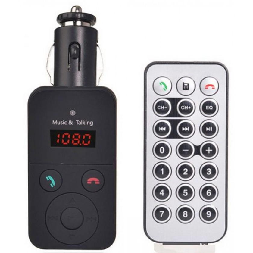 Car Kit Wireless BT FM Transmitter MP3 Player USB SD LCD Remote Control Handfree