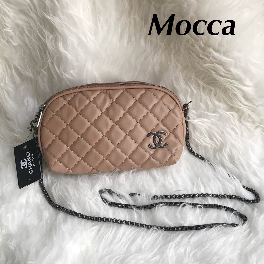 Dompet Chanel Kerang Clutch Selempang 2 Ruang Sling Bag Tas Pesta Wanita  ff004a08ad