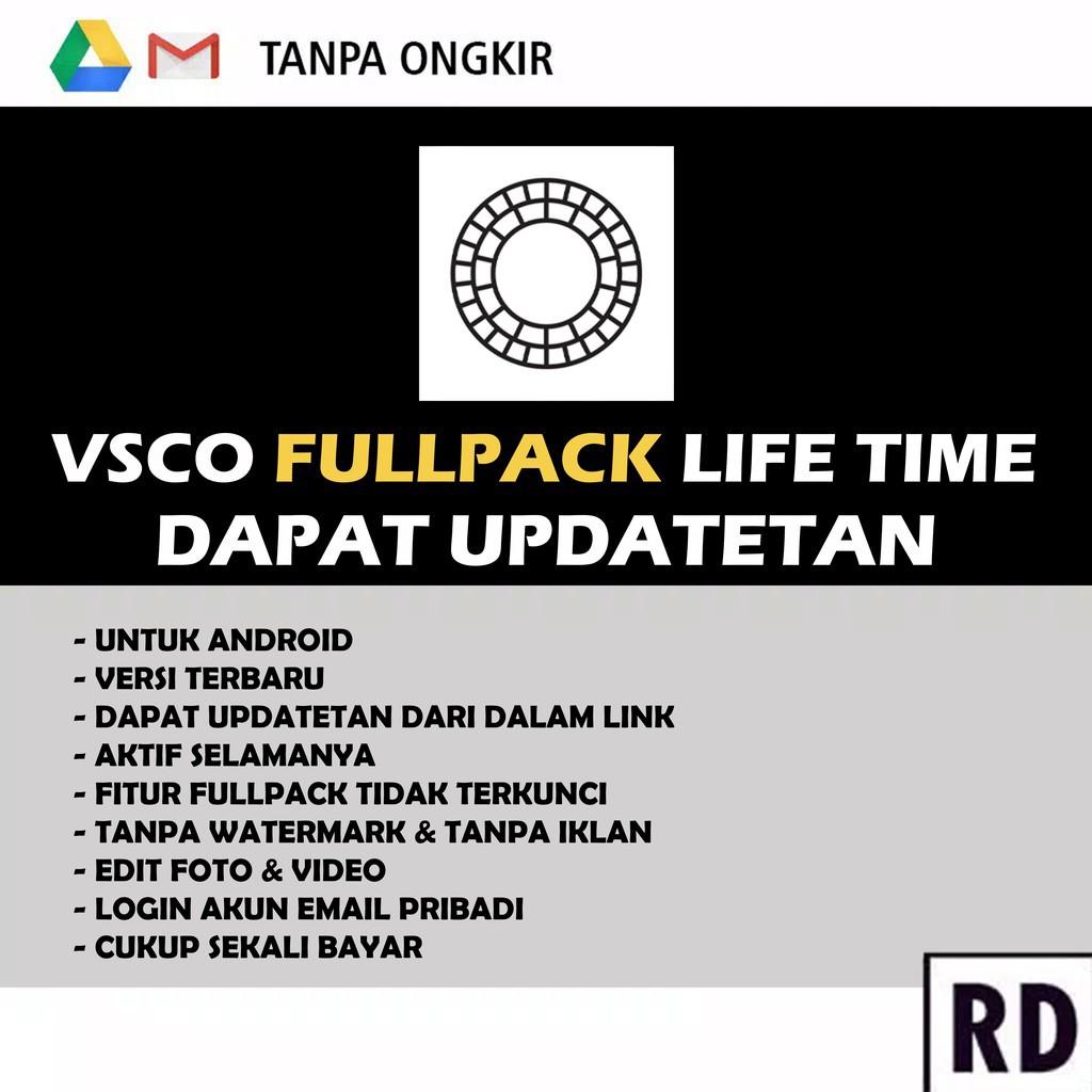 Baru Vsco Fullpack Aktif Selamanya Gratis Ongkir Shopee Indonesia