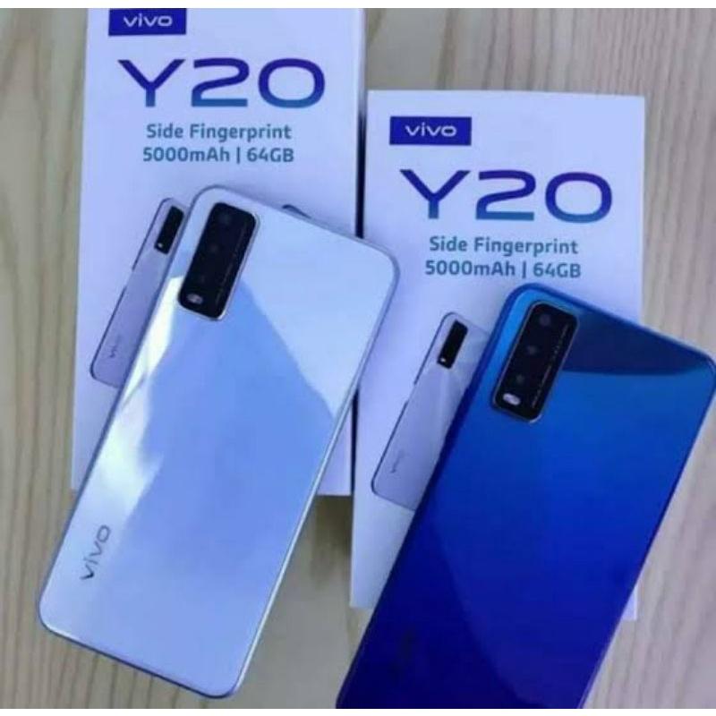 Handphone second murah bagus' vivo y20 2021 4/64 hp seken / bekas mulus vivo y20 4/64