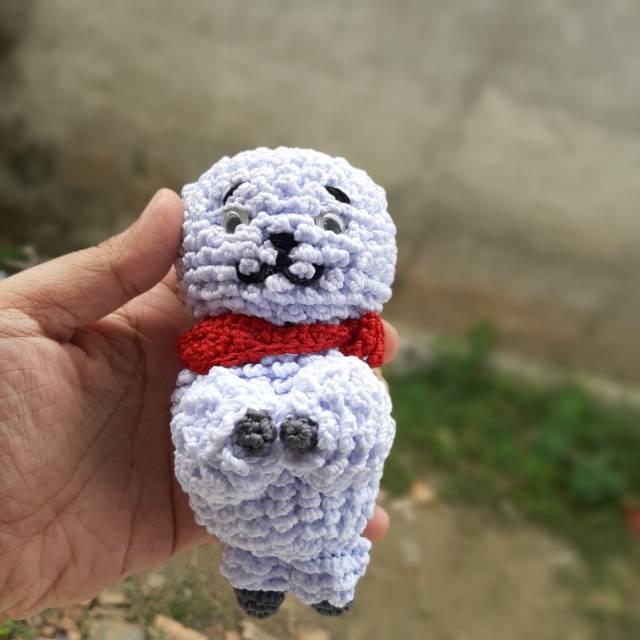 Christmas RJ BT21 Crochet Tutorial - YouTube | 640x640