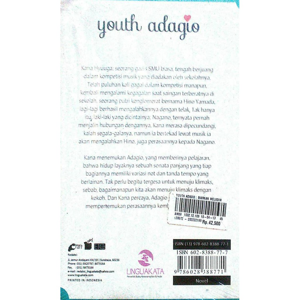 Jual Novel Youth Adagio Alberta Natasia Ayo Beli